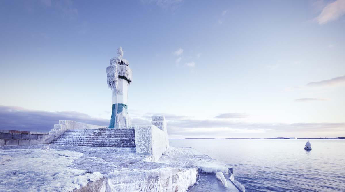Rügen Leuchtturm im Winter